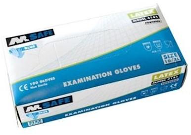 M-Safe 4141 disposable latex handschoen - 9/l