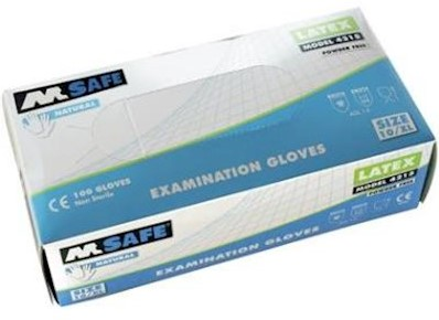 M-Safe 4215 disposable latex handschoen - 9/l