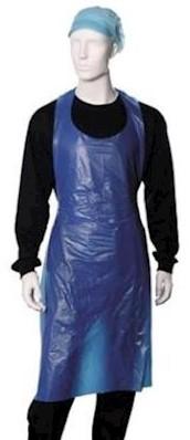 Werkschort polyethyleen 25 mu - blauw