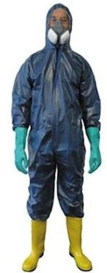 Overall polypropyleen CPE coated - blauw - xl