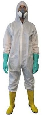 Overall polypropyleen CPE coated - wit - xxl
