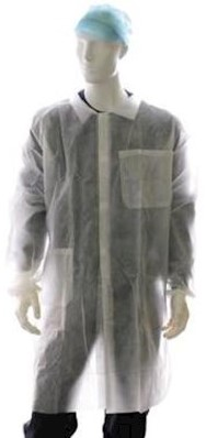 Laboratoriumjas polypropyleen met klittenbandsluiting
