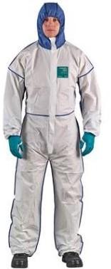 Ansell Alphatec 1800 Comfort overall, model 195 - wit/blauw - m